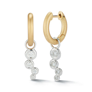 Mercer Huggie Cluster Drop Earrings