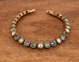 Gold Game, Set, Match Bracelet in Zephyr