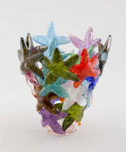 Load image into Gallery viewer, Multicolored Starfish Cluster Vase