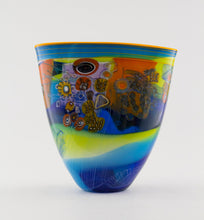 Load image into Gallery viewer, Small Cobalt & Lime Colorfield Vessel