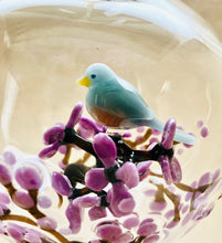 Load image into Gallery viewer, Plum Blossom and Songbird Ornament
