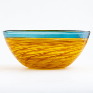 Blue and Gold Vortex Bowl