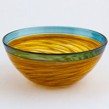 Load image into Gallery viewer, Blue and Gold Vortex Bowl