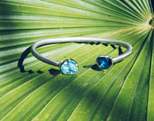 Load image into Gallery viewer, Aquamarine & London Blue Topaz Cuff
