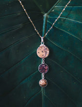 Load image into Gallery viewer, Triple Drop Moon Necklace