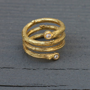 Olive Branch Coil Ring
