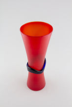 Load image into Gallery viewer, Corosso Red Hourglass Vase