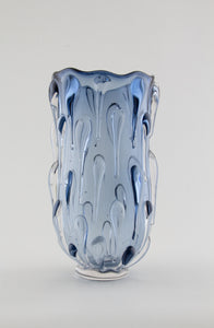 Steel Blue Droplet Vase