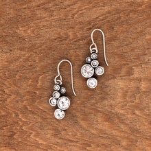 Load image into Gallery viewer, Silver Splash Earrings in All Crystal