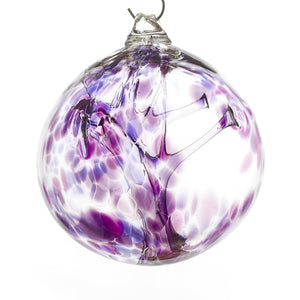 Witch Ball Silver Amethyst
