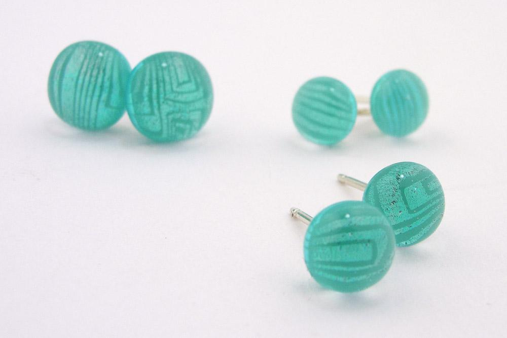 Zarape Aqua Post Earrings