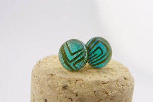 Lichenology Post Earrings