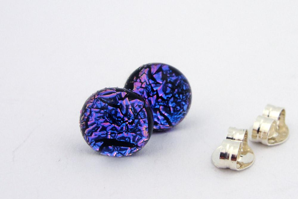 Purple-Pink Special Dots #2 Post Earrings
