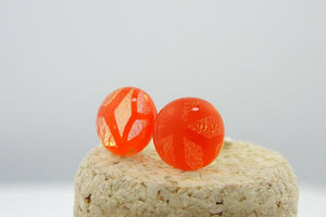 Dimensional Orange Post Earrings