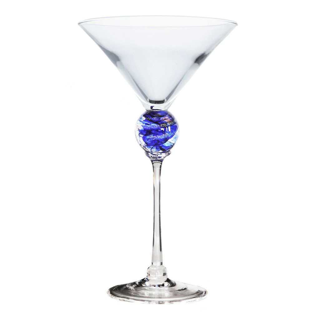Cobalt Planet Martini Glass