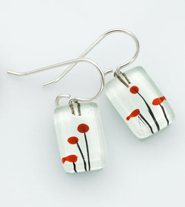 Small Poppies Drop Earrings