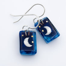 Load image into Gallery viewer, Small Moon Drop Earrings