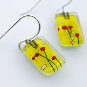 Small Amidst Poppies Drop Earrings