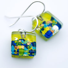 Load image into Gallery viewer, Garden Cube Earrings