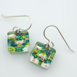 Nenuphar Square Earrings