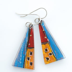 Large Künsthaus Triangle Earrings