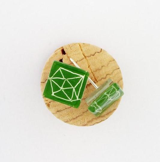 Polyhedra Post Earrings
