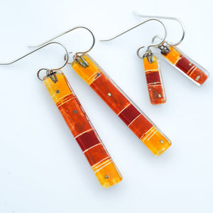 Warm Strata Bar Earrings