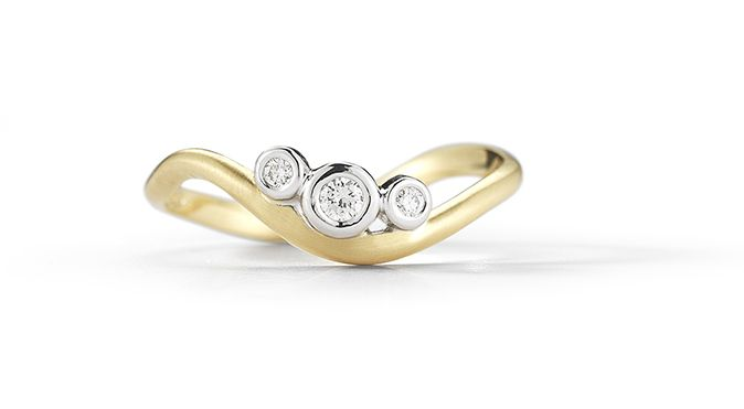 Scribble Trio Ring