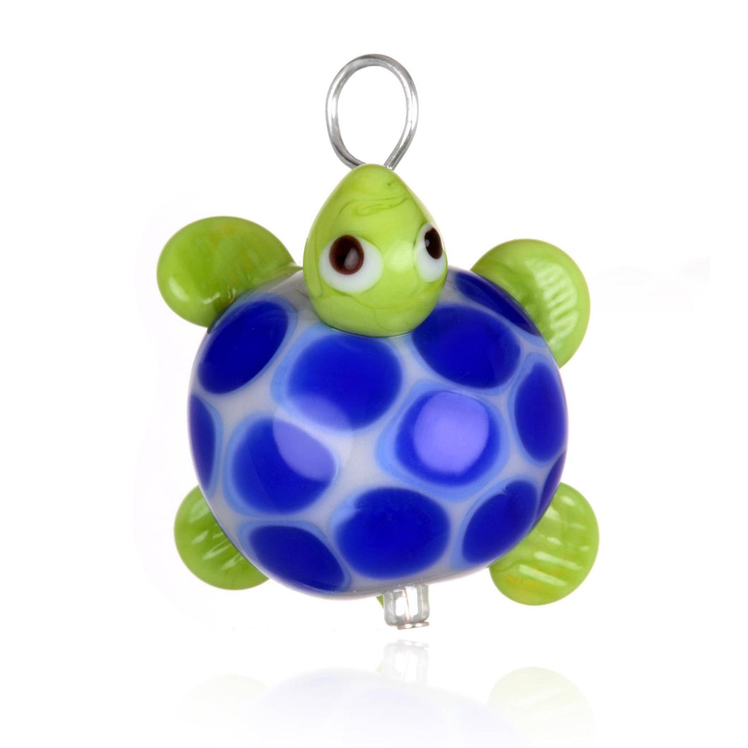 Glass Turtle Pendant Necklace