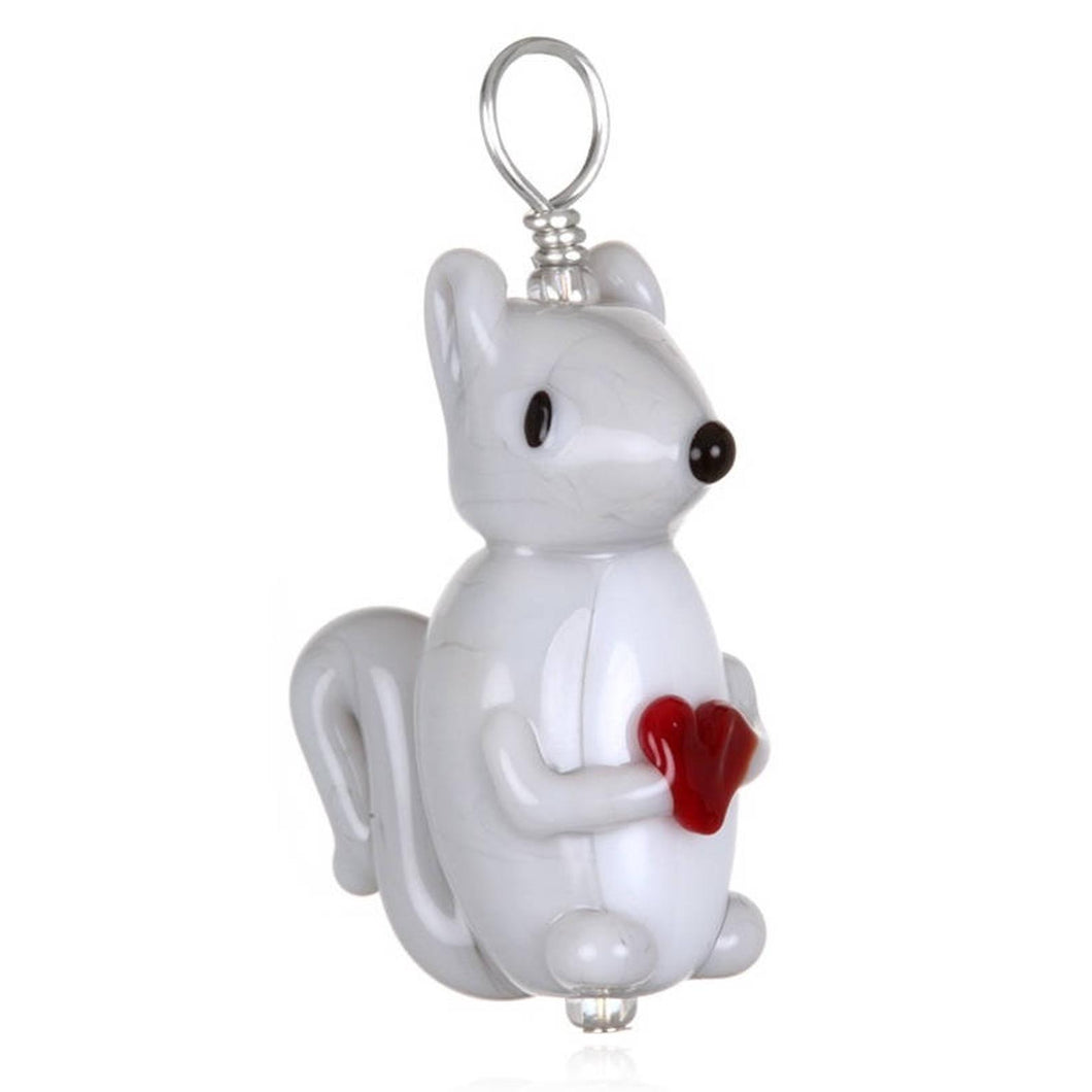 Glass Squirrel Pendant Necklace