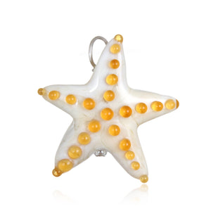 Glass Starfish Pendant Necklace