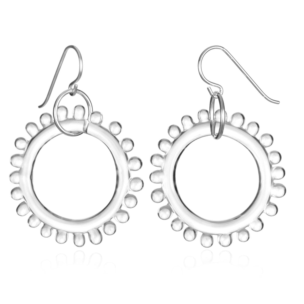 Glass Wheel Earrings