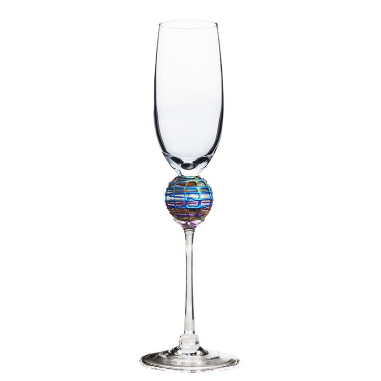 Iridescent Latitude Champagne Glass