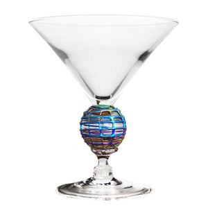 Iridescent Latitude Short Martini Glass