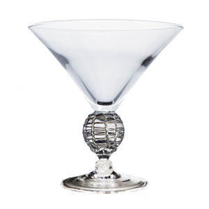 Silver Latitude Short Martini Glass
