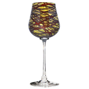 Red Florentine Wine Glass