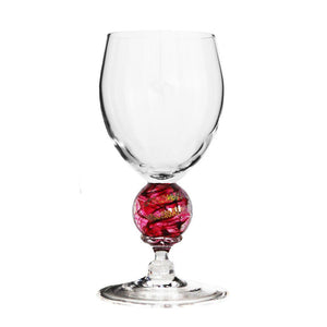 Ruby Planet Water Glass
