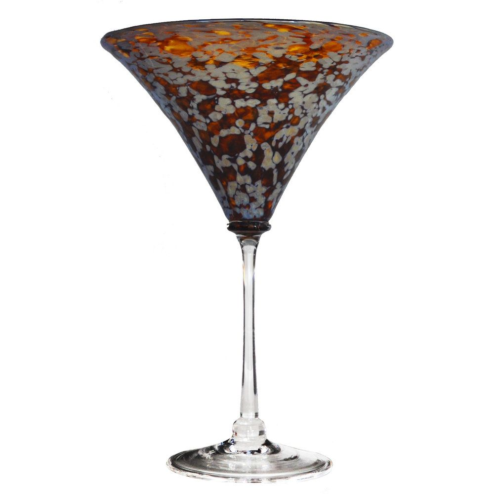 Aurora Silver Martini Glass