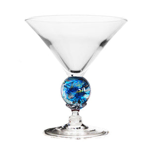 Turquoise Short Martini Glass