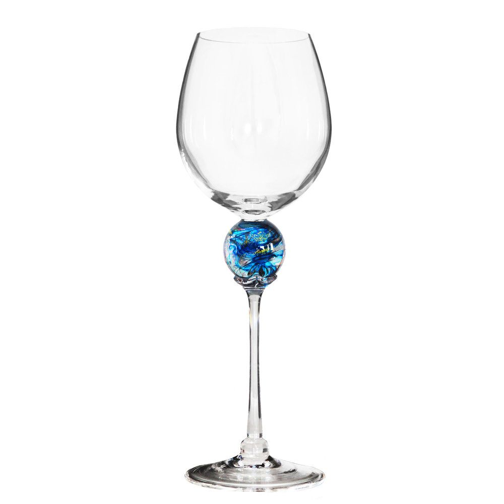 Turquoise Planet Wine Glass