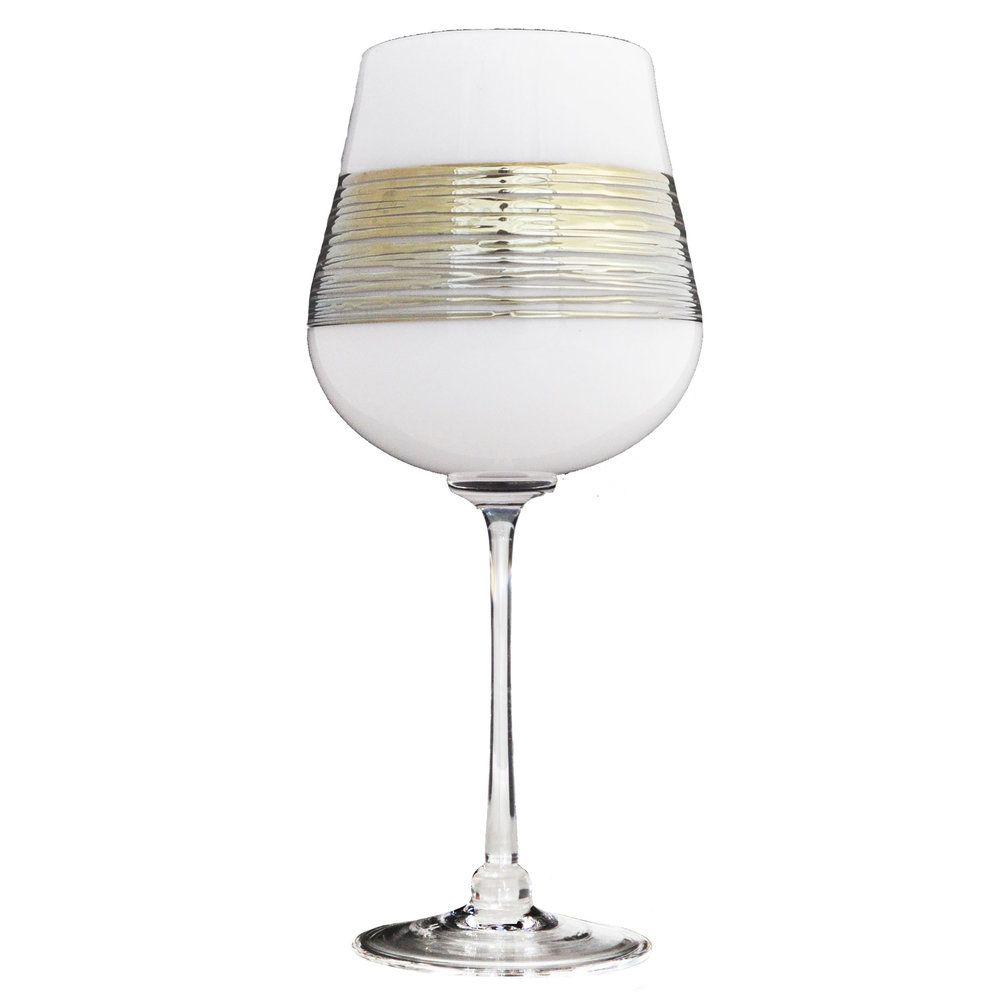 White Silverspun Wine Glass