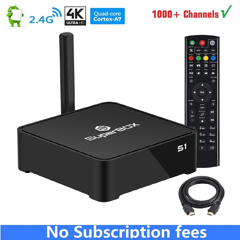 SuperBox S1 Steaming media player FREE US CA Channels