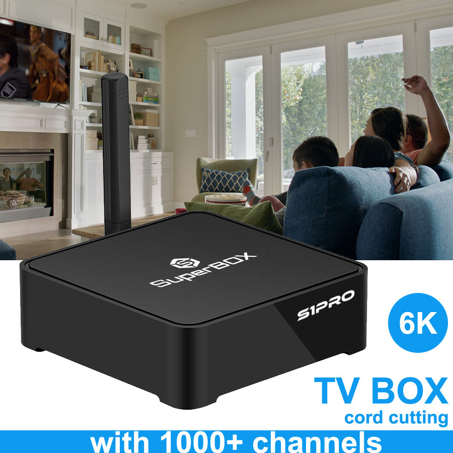 SuperBox S1 PRO IPTV BOX | Streaming Media Player | USA CA Channels