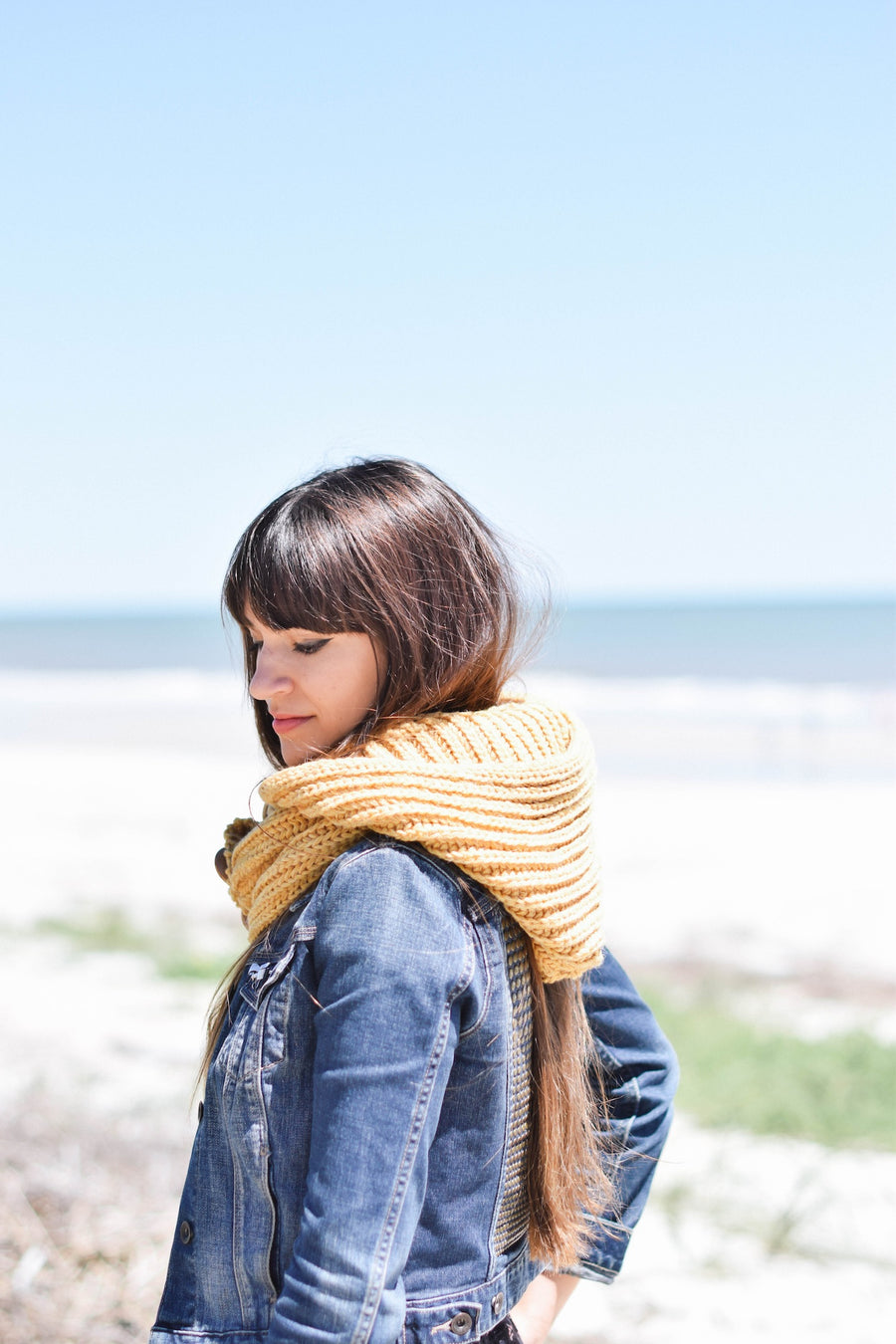 Windy Hooded-Scarf (Yellow)