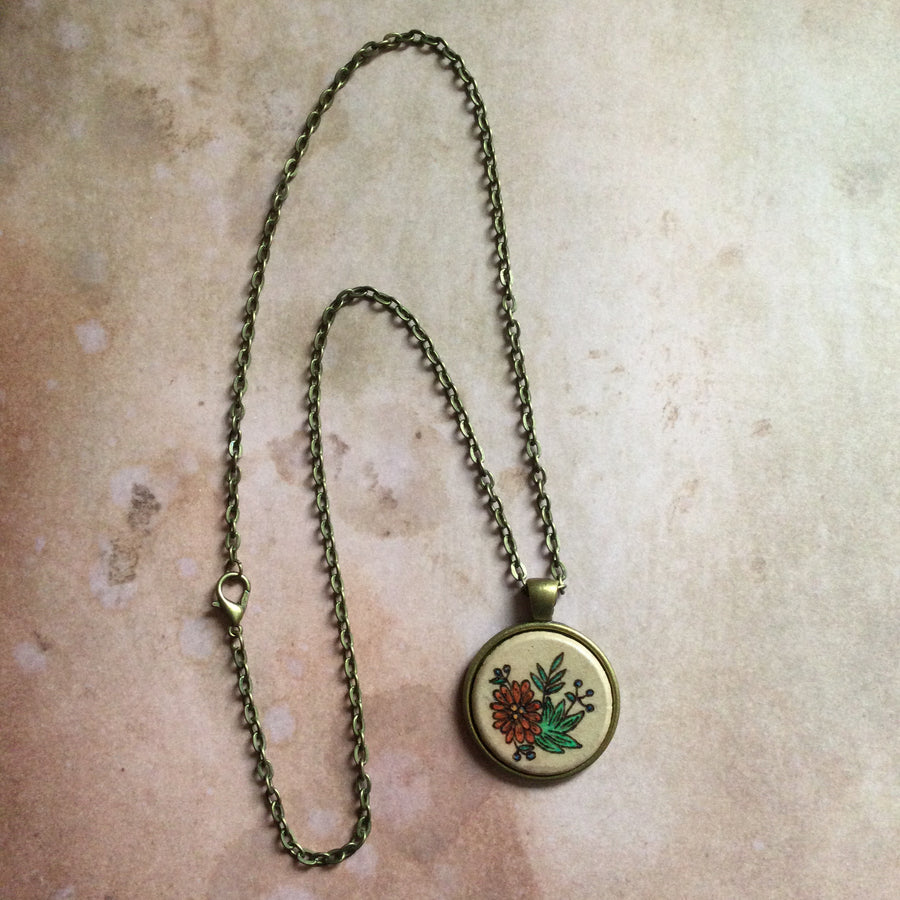 Flower and Berries Necklace