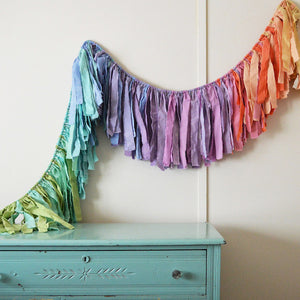 Bliss Torn Fabric Garland