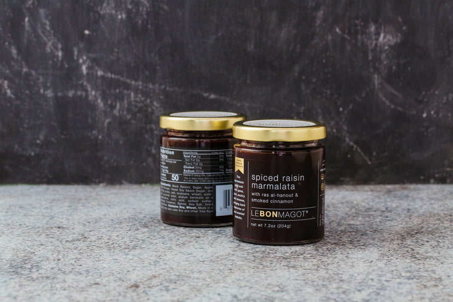 Spiced Raisin Marmalata with Ras Al-Hanout & Smoked Cinnamon, 7 oz - Clover Market