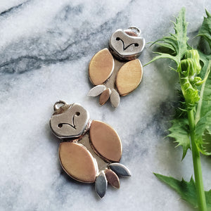 owls :: pendant or earrings - Clover Market