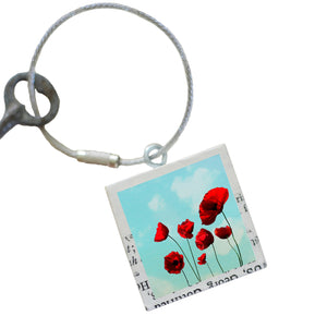 """Poppies"" Keychain"