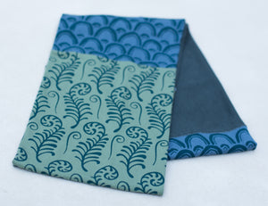 Hand-Printed Infinity Scarf - Long Lake Scarf - Exclusive